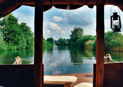 Aussicht vom Floß