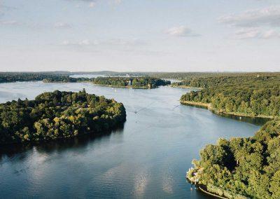 Seenlandschaften aus der Luft